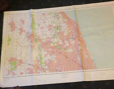 LARGE EVANSTON, CHICAGO & VICINITY GEOLOGICAL SURVEY MAP