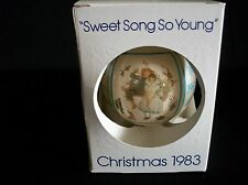 """1983 Norman Rockwell Christmas Ornament by Schmid """"Sweet Song So Young"""""""