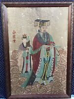 ANTIQUE CHINESE EMPEROR PAINTING YELLOW HUANG-DI LARGE HUANGDI OLD VINTAGE RARE