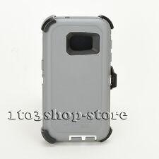 Otterbox Defender Samsung Galaxy S7 Hard Case w/Holster Belt Clip Gray/White NEW