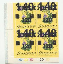 2304 GUYANA 1984 120 (C.) on 140 (C.) on 1 $ Flowers (Orchids) U/M 4-Bl. VARIETY