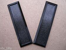 2 VIVARIUM handles self adhesive for sliding glass doors finger pulls BLACK