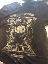 """Game of Thrones """"Defend the wall"""" Night's Watch Reduced T-Shirt $2 ,size M, NEW"""