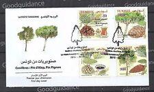 2016- Tunisia- Conifers: Aleppo pine, Pine nut- FDC