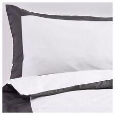 Ikea Kuddflox Single Duvet/Quilt Cover & 2 Pillowcases, Grey/White 603.174.35