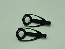 Two SILICON CARBIDE SIC CONCEPT BUTST size 12 RING TOP Stainless black anodized