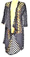 TS jacket TAKING SHAPE plus sz XXS / 12 Roxanne Cardi sheer cardy NWT rrp$150