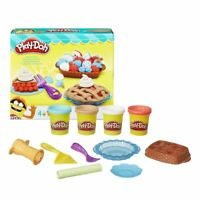 New Play-Doh Playful Pies Playset w/ 4 Cans Of Dough & Moulds Official