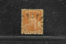 BARBADOS STAMP #20 (USED) FROM 1861