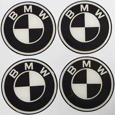 AUFKLEBER für BMW SCHWARZ Felgendeckel EMBLEME Radkappen Nabendeckel  4x56mm NEU