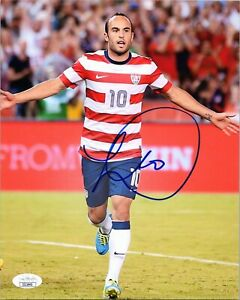 "LANDON DONOVAN Authentic Hand-Signed ""TEAM USA SOCCER"" 8x10 Photo (JSA COA) B"