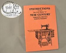 New Century (Free) Sewing Machine Manual (repro)