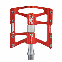 ROCKBROS Bike Pedals Cycling CNC Sealed 4 Bearing 9/16 durab Pedals Red New
