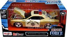 Dodge challenger highway patrol 1:24 voiture metal model die cast models gold
