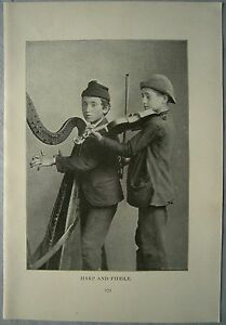 "STREET TYPES OF AMERICAN CITIES: ""Harp and Fiddle"", photo, 1896. (#41)"