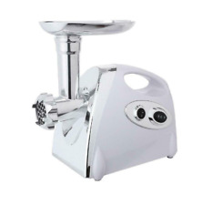 Commercial Electric Meat Grinder Sausage Maker Mince Stuffer Handle White 2800W.
