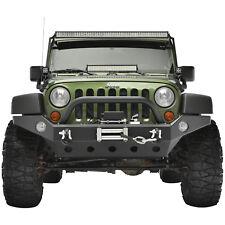 07-18 Jeep Wrangler JK Full Width Bumper Guard W/OE Fog Light Hole Winch Plate