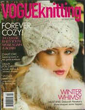 VOGUE KNITTING Winter 2010 Twinkle Coat Dress Knee Socks Cardigan Brioche Scarf