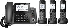 OPENED BOX Panasonic KX-TGF383M DECT 3-Handset Landline Telephone