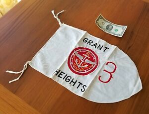 50s BOY SCOUT EXPLORER Crew Flag - GRANT HEIGHTS JAPAN - Rare