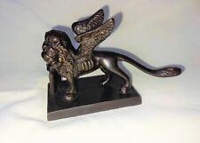 More details for c19th italian venetian bronze 'grand tour' souvenir sculpture of the winged lion