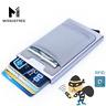 Aluminum Wallet With Elasticity Back Pocket ID Card Holder Rfid Blocking Mini