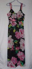 Ann Taylor Size 10 Black and Pink Floral sleeveless Dress