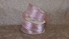 """1 1/2"""" Christmas/Bouquet/Winter Decor Wired Gold Glittered Pink Ribbon 25yds"""