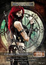 3x Assassin #3 Custom Altered Tokens (for Vraska, the Unseen)