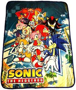 **Legit** Sonic Hedgehog Shadow Group Authentic Anime Game Throw Blanket #57717