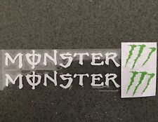 A Pair Monster Car Handle Sticker Decal Graphics Vinyl For Honda BMW  (white)