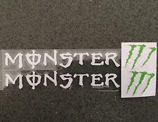 Une Paire Monster Voiture Poignée Autocollant Décalque Graphique Vinyle Pour Honda BMW (Blanc)