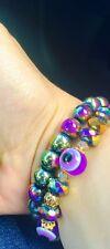 Evil Eye Multicolor Hematite Gemstone Good Luck Protection Bracelet