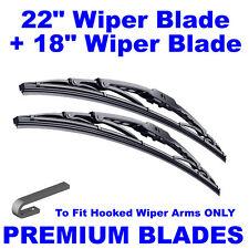 "Premium 22"" Inch & 18"" Inch Pair Front Windscreen Wiper Blades"