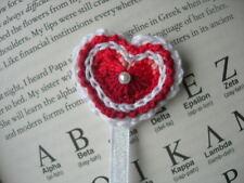 Red heart bookmark. Valentine's day gift. Handmade. Crocheted. New.