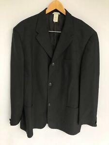 VERSACE Istante Vintage 100% Silk Suit Mens Black Jacket Size 56 XXL