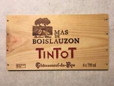 1 Rare Wine Wood Panel Mas De Boislauzon Tintot Vintage CRATE BOX 5/18 437