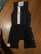 DNA Cycling Mens Medium Triathlon Skinsuit Cycling Black Colesport