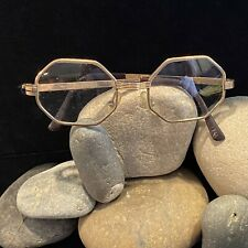 Vintage 12k G.F. Wire Rimmed Octagon Glasses. 1 Arm Is Missing Screw. 1940's
