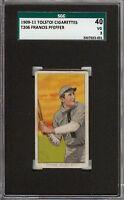 Rare 1909-11 T206 Francis Pfeffer Tolstoi Back Chicago SGC 40 / 3 VG