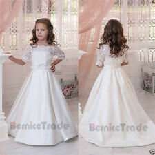 Communion Party Prom Princess Bridesmaid Wedding Pageant Flower Girl Dress 2-14