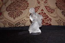 "Lalique Satin Crystal Figurine  Kneeling Nude Female, ""Diane the Huntress"" Holdi"