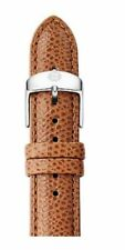 MICHELE 18MM SADDLE BROWN LEATHER WATCH STRAP,BAND+SILVER BUCKLE MS18AA320216