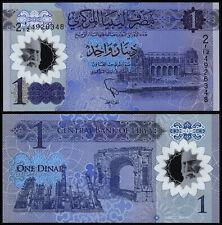 LIBYA 1 DINAR (P NEW) 2019 POLYMER UNC