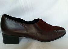 MUNRO women's shoes, slip on, size 12M cherry/brown