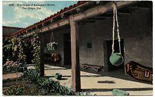 Glimpse Ramona's Home San Diego CA Postcard #4345 1915 Corona 1c Balboa