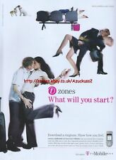 """T-Mobile """"Zones What Will You Start?"""" Phone 2003 Magazine Advert #45"""