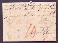 Vorphilabrief Stadtpostamt Bremen 1840 mit großem Schlüsselstempel (534)