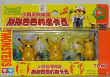 "NEW 3 POKEMON PIKACHU FIGURES CAKE TOPPERS AULDEY TOMY PVC 2"" PARTY SUPPLIES"