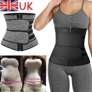 Women Waist Trainer Cincher Trimmer Sweat Belt Sports Body Shaper Shapewear UK